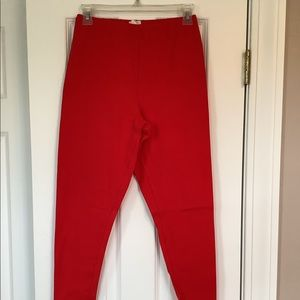 Bright Red Leggings